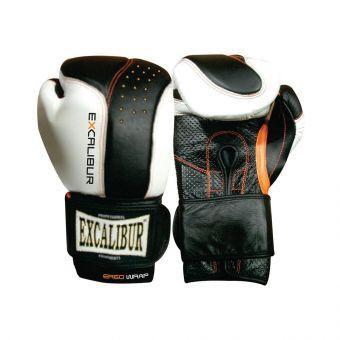 Перчатки боксерские Excalibur 559 Punch 2 белый/черный