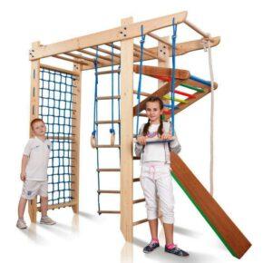 Акция! Деревянный Детский спортивный уголок с рукоходом «Спартак-220» Спортбейби SportBaby