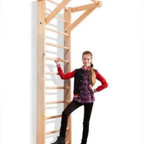 Акция! Детская деревянная Шведская стенка Спортбейби с турником — «Sport 1-240» SportBaby