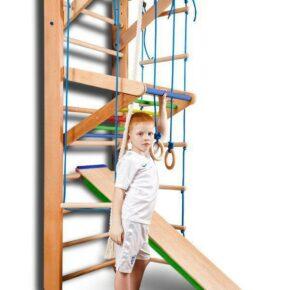 Акция! Детская деревянная Шведская стенка Спортбейби Спортивный уголок «Baby 3-220» SportBaby