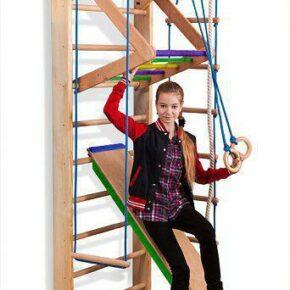 Акция! Детская Деревянная шведская стенка Спортивный уголок Спортбейби Sport 3-240 SportBaby
