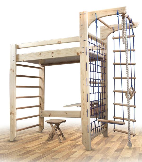 Детская деревянная шведская стенка SportBaby Спорт-кровать