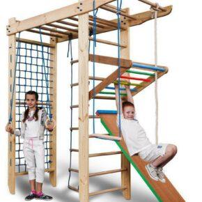 Акция! Деревянный П-образный Детский спортивный уголок с рукоходом Спартак 5-240