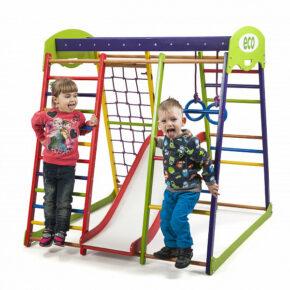 Акция! Деревянный детский Спортивный комплекс для малышей для дома Спортбейби «ЮнгаPlus 1»