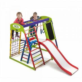 Акция! Деревянный детский Спортивный комплекс для малышей для дома Спортбейби «ЮнгаPlus 3»