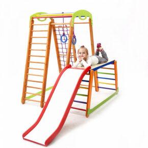 Акция! Деревянный детский Спортивный комплекс для дома для малышей Спортбейби Кроха — 2 Plus 1-1 SportBaby