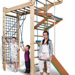 Детский деревянный спортивный комплекс П-образный детский уголок Спортбейби Kinder 5-240 SportBaby
