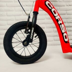 Самокат надувные колеса с ручным тормозом CORSO Корсо для детей Оранжевый