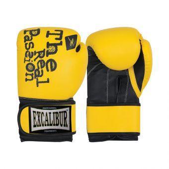Перчатки боксерские Excalibur 520 Passion 1.0 желтый/черный