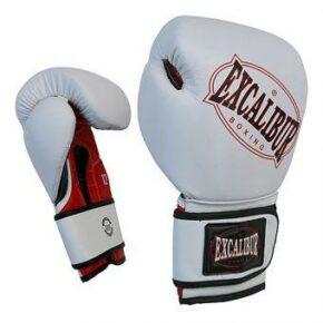 Перчатки боксерские Excalibur 536-01 Ring Star белый/красный/черный