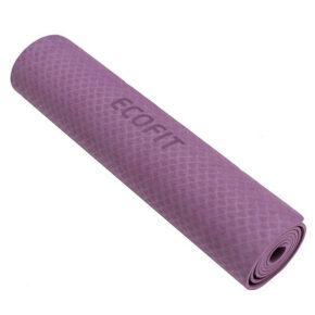 Коврик для фитнеса Ecofit MD9012 однослойный TPE 1830*610*6мм фиолетовый