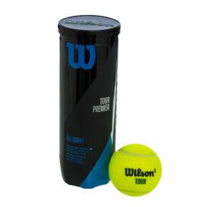 Мяч для большого тенниса WILSON TOUR PREMIER WRT109400 3шт салатовый
