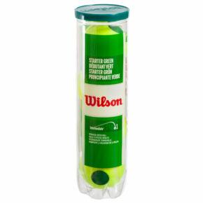 Мяч для большого тенниса WILSON STARTER PLAY GREEN WRT137400 4шт салатовый