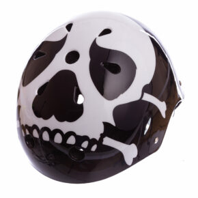 Шлем для экстремального спорта Кайтсерфинг Zelart SKULL SK-5616-015 L-56-58 черный-белый
