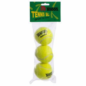 Мяч для большого тенниса TELOON MASCOT T801 3шт салатовый