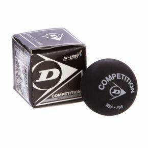 Мяч для сквоша DUNLOP REV COMP XT SINGLE DOT 700112 1шт черный