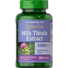 Milk Thistle 4:1 Extract 1000mg — 180softgels.