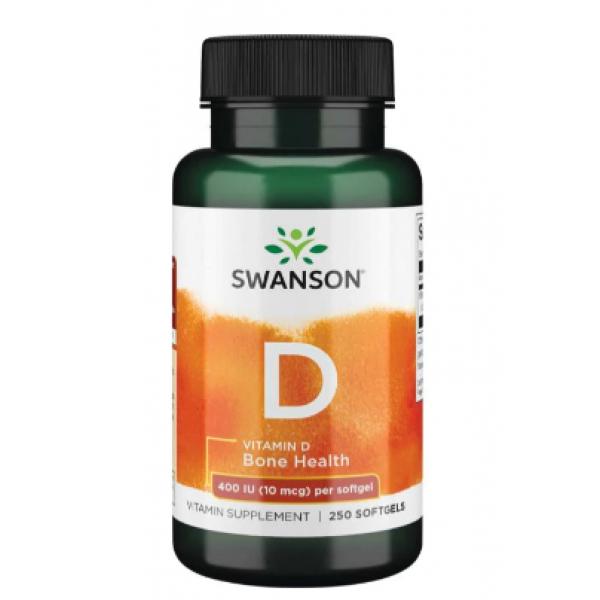 Vitamin D 400 IU (10 mcg) — 250 Sgels
