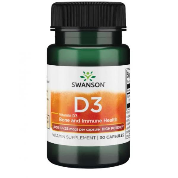 D-3 High Potency Vitamin 1000iu (25mcg) — 30caps
