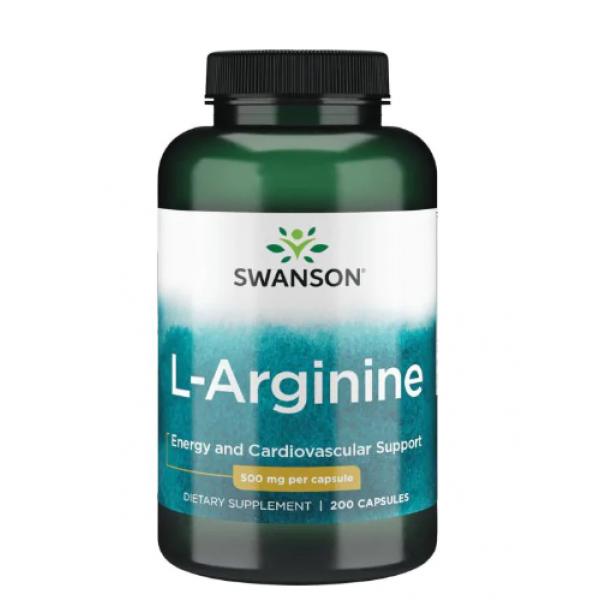 L-Arginine 500 mg — 200 Capsules