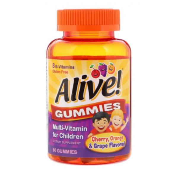 Alive! Children`s Gummy Multivitamin, Gluten Free, Made with Pectin — 60 Gummies