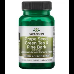 Grape Seed green tea pine bark — 60caps