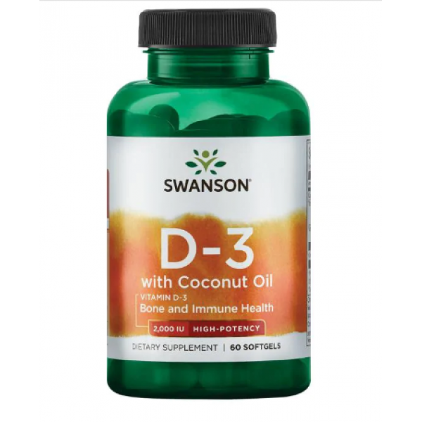 D-3 Coconut oil 2000IU — 60 soft