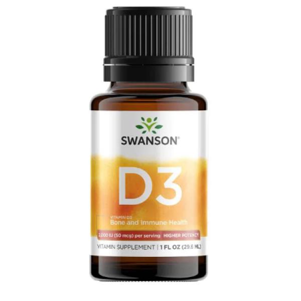 Vitamin D3 Bone and Immune Health 2000 IU (50mcg) -1fl(29.6ml)
