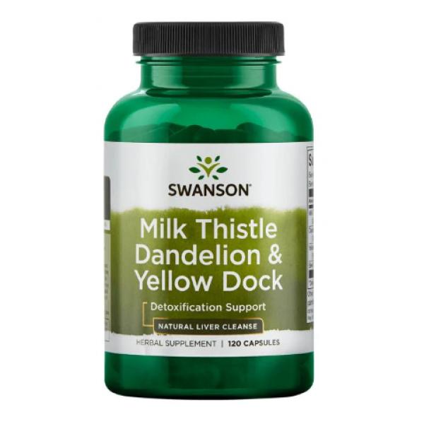 Milk Thistle Dandelion-Yellow Dock — 120 cap