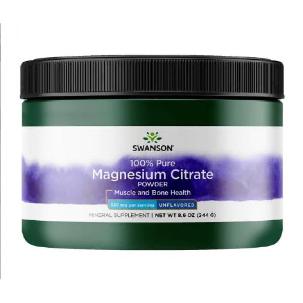 Magnesium Citrate Powder 100% Pure — 244g