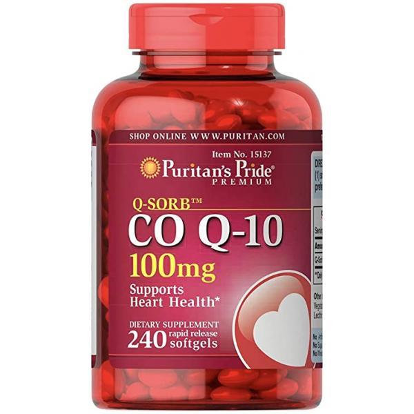 Q-SORB Co Q-10 100 mg — 240 Rapid Release Softgels