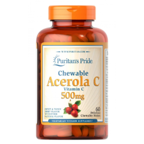 Chewable Acerola with Vitamin C 500 mg — 60 Chewables