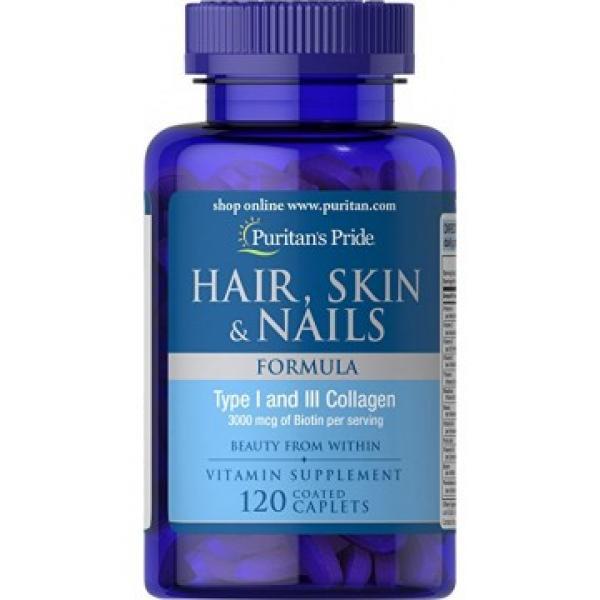Hair Skin Nails (One perday formula) 2500 mcg of Biotin — 30 Softgels (Брак капсул)