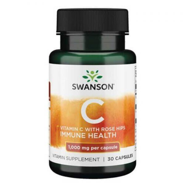 Vitamin C Rose Hips 1000mg — 30caps