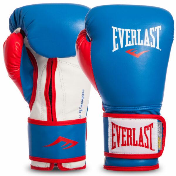 Перчатки боксерские EVERLAST POWERLOCK P00000728 16 унций синий-красный-белый