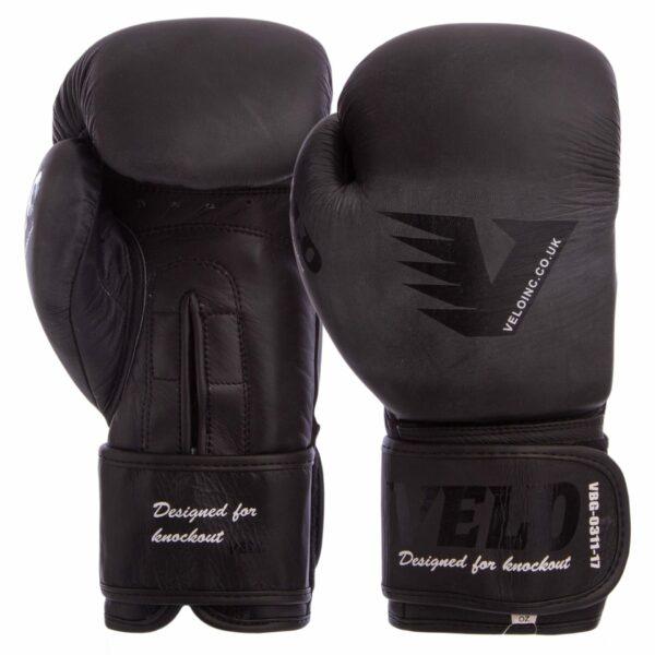 Перчатки боксерские кожаные VELO VL-8187 10-14 унций цвета в ассортименте
