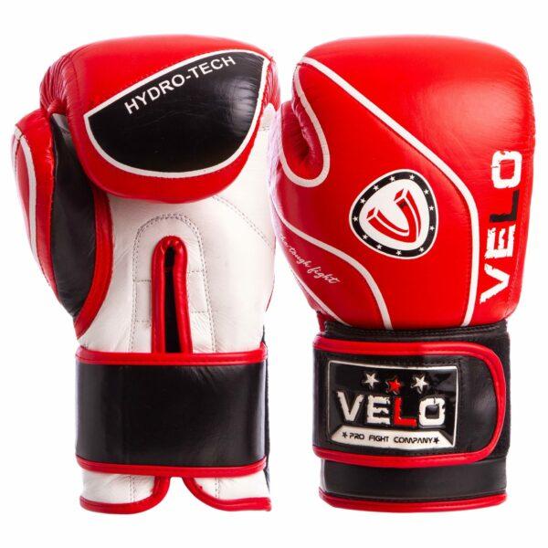 Перчатки боксерские кожаные VELO VL-8188 10-12 унций цвета в ассортименте