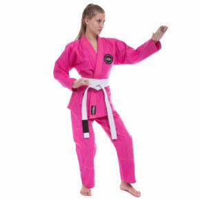Кимоно женское для джиу-джитсу HARD TOUCH JJSL 130-160см розовый
