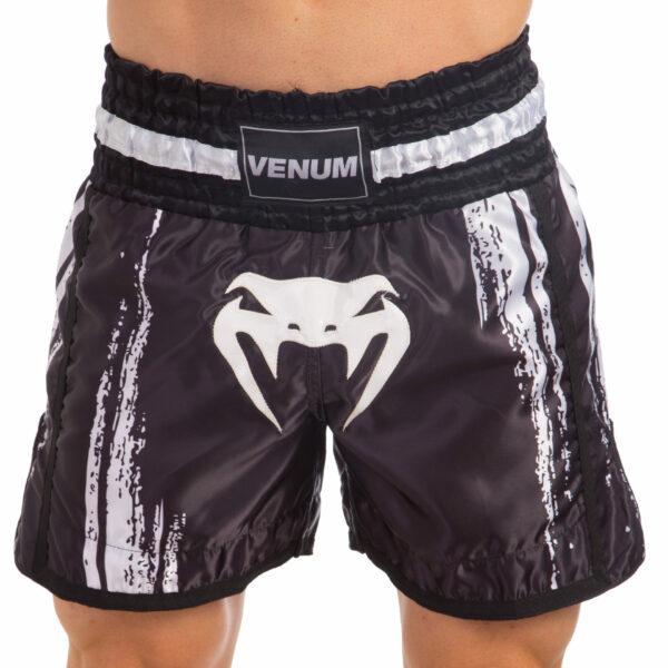 Шорты для тайского бокса и кикбоксинга VNM BANGKOK SPIRIT VL-0214 S-L черный-белый