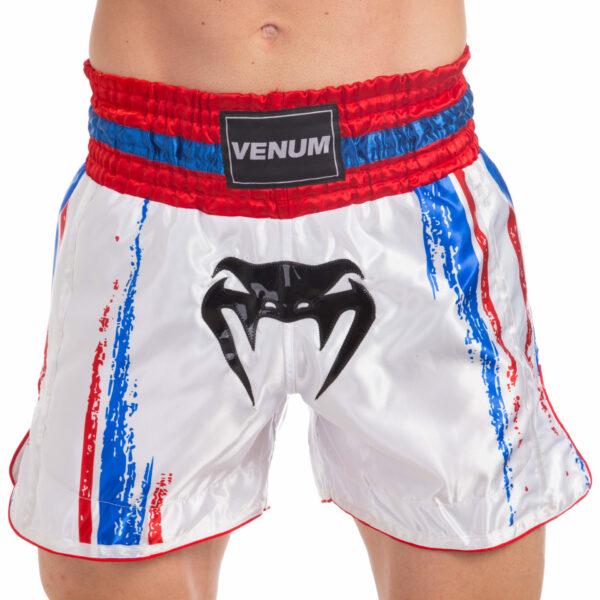 Шорты для тайского бокса и кикбоксинга VNM BANGKOK SPIRIT VL-0215 S-L белый-красный