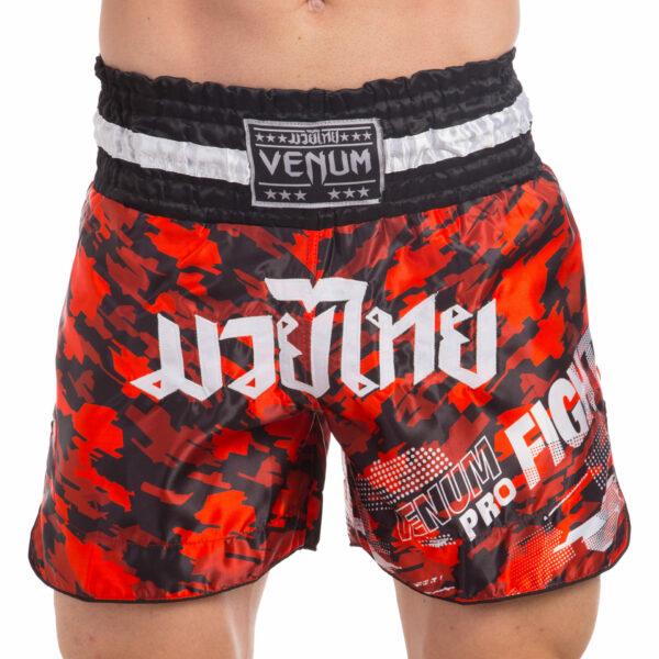 Шорты для тайского бокса и кикбоксинга VNM TECMO VL-0221 S-L красный