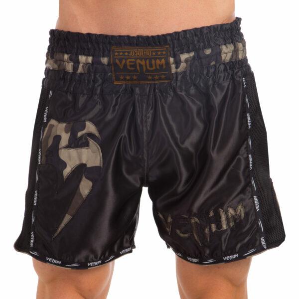 Шорты для тайского бокса и кикбоксинга VNM GIANT VL-0225 S-L камуфляж-черный
