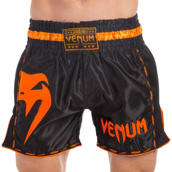 Шорты для тайского бокса и кикбоксинга VNM GIANT VL-0231 S-L черный-оранжевый