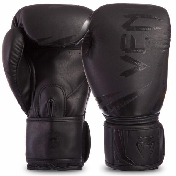 Перчатки боксерские кожаные VENUM CHALLENGER 3.0 VENUM-03525-114 10-14 унций черный