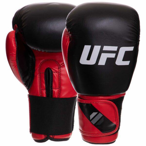 Перчатки боксерские UFC PRO Compact UHK-69998 S-M красный-черный