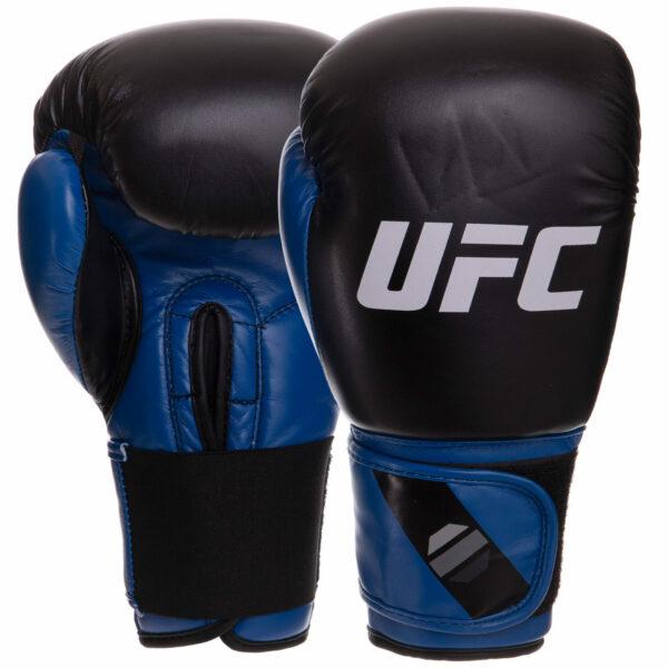 Перчатки боксерские UFC PRO Compact UHK-75002 L синий-черный