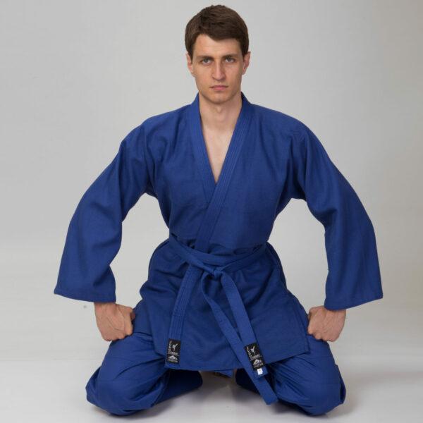 Кимоно для дзюдо MATSA MA-0015 120-190см синий