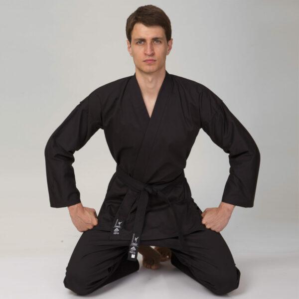 Кимоно для каратэ MATSA MA-0017 130-200см черный