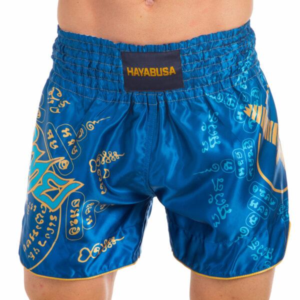 Шорты для тайского бокса и кикбоксинга HAYABUSA FALCON VL-0237 S-L синий