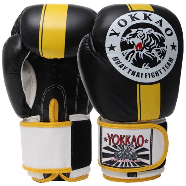 Перчатки боксерские кожаные YOKKAO YK016 10-16 унций цвета в ассортименте